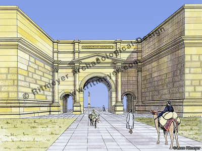 Restoration of the crown of the damascus gate ritmeyer