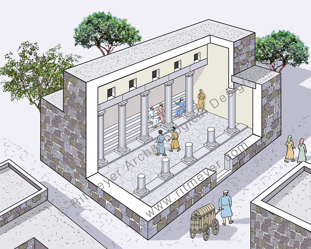 The Synagogue of Capernaum in which Jesus taught