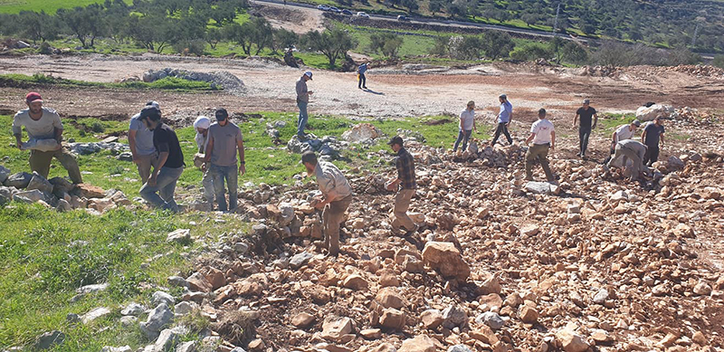 The destruction of the site of Joshua's altar on Mount Ebal (cont.)